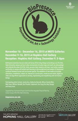 BioPresence exhibition poster